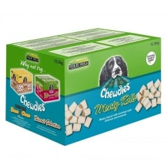 Chewdles Meaty Rolls Dog Biscuits 12.5kg