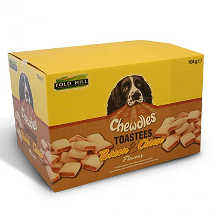 Chewdles Toastees Bacon & Cheese Dog Biscuits 10kg