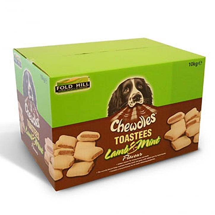 Chewdles Toastees Lamb and Mint Dog Biscuits 10kg