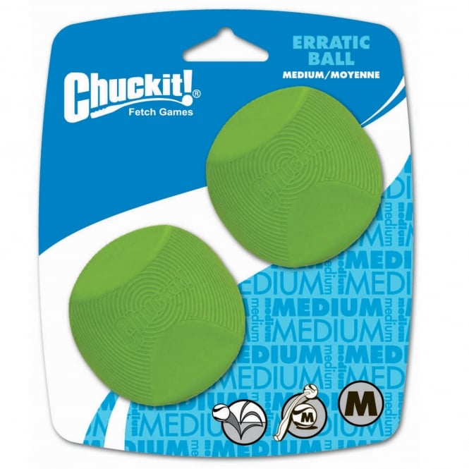 Chuckit! Erratic Ball Dog Toy Medium 2 Pack