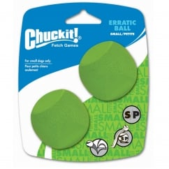 Chuckit! Erratic Ball Dog Toy Small 2 Pack