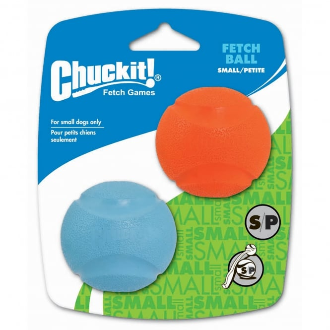 Chuckit! Fetch Ball Dog Toy Small 2 Pack