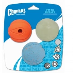 Chuckit! Fetch Medley Balls Small 3 Pack