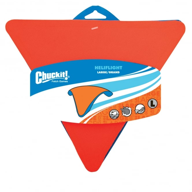 Chuckit! Heliflight Rubber/Canvas Dog Toy Large