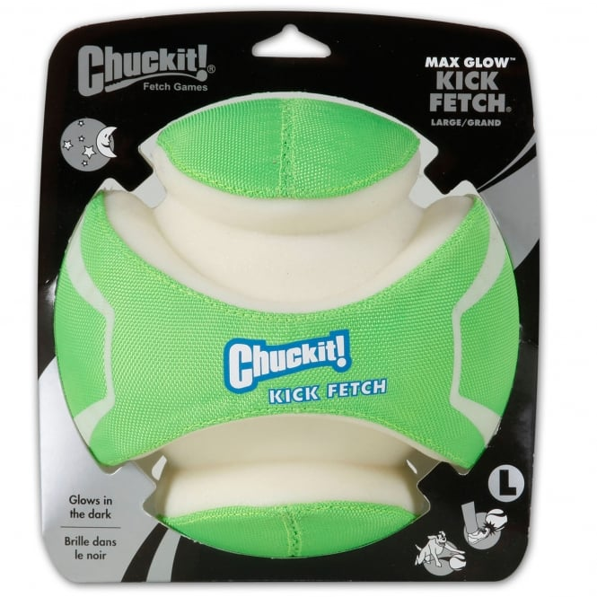 Chuckit! Max Glow Kick Fetch Dog Ball Large