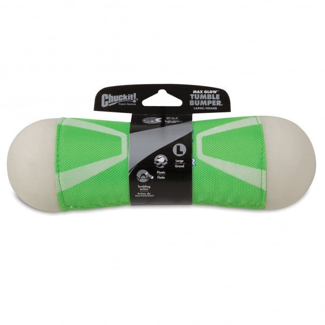 Chuckit! Max Glow Tumble Bumper Rubber/Canvas Dog Toy Large