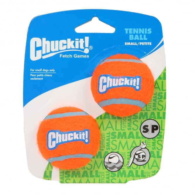 Chuckit! Tennis Ball Dog Toy Small/Petite 2 Pack