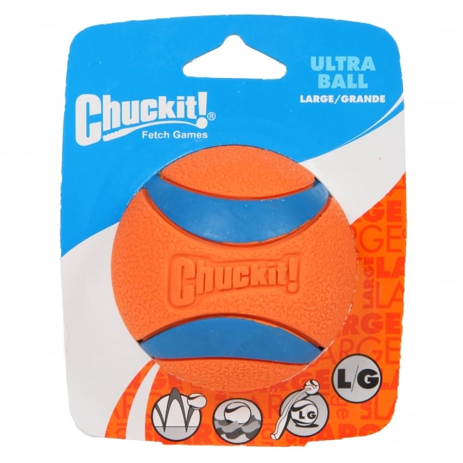 Chuckit! Ultra Ball Rubber Dog Toy Large