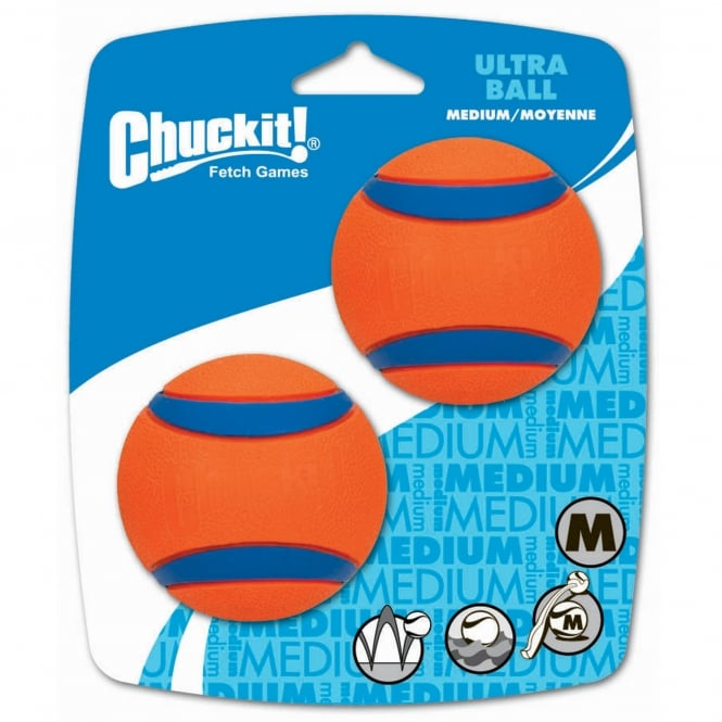 Chuckit! Ultra Rubber Ball Dog Toy Medium 2 Pack