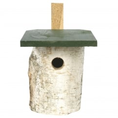 CJ Wildbird Birch Log Wild Bird Nest Box 32mm Hole (fsc)