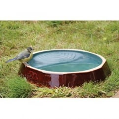 Ceramic Wild Bird Water Dish - Ground