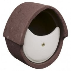 CJ Wildbird Woodstone Wild Bird Nest Box Open Oval Brown (fsc)