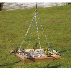 CJ Wildbird Square Wild Bird Feeding Table - Hanging (fsc)