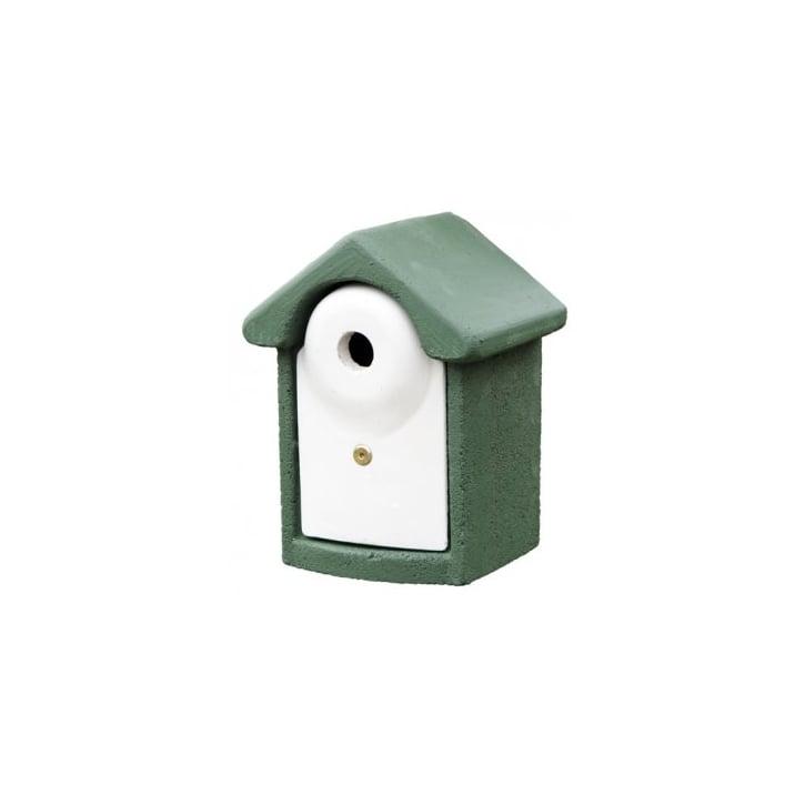 C j wildbird foods cj birch log nest box 32mm hole fsc