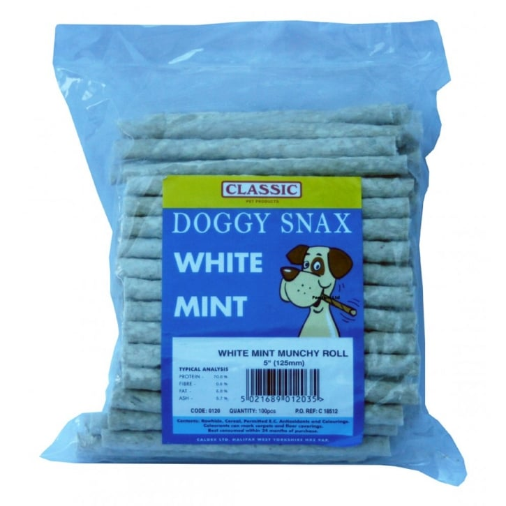 Classic Doggy Snax White Mint Munchy Roll 5