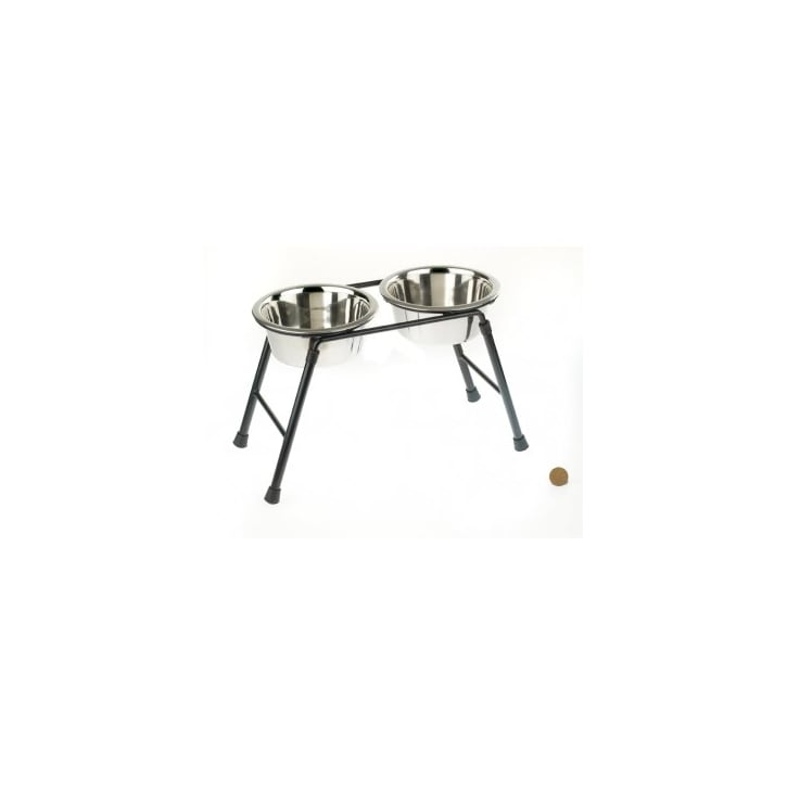 Classic Double Feeder Dog Stand 220ml High Inc 2 x 900ml Dishes