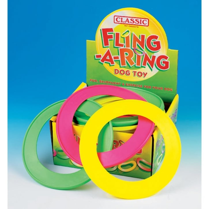 Classic Fling A Ring Dog Toy 8.5