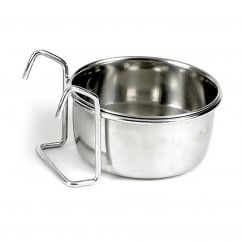 Hook on stainless steel coop cup 150ml - 75mm dia