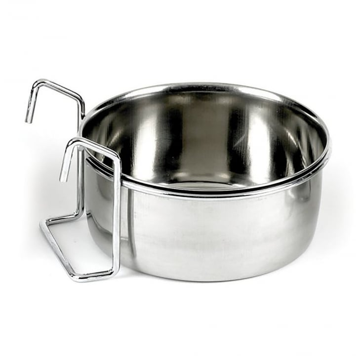 Classic Hook on stainless steel coop cup 600ml - 125mm dia