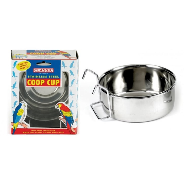 Classic Hook on stainless steel coop cup 900ml - 150mm dia