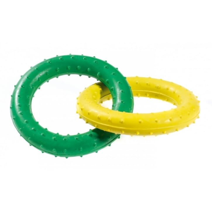 Classic Pimple Rubber Rings Dog Toy 19cm