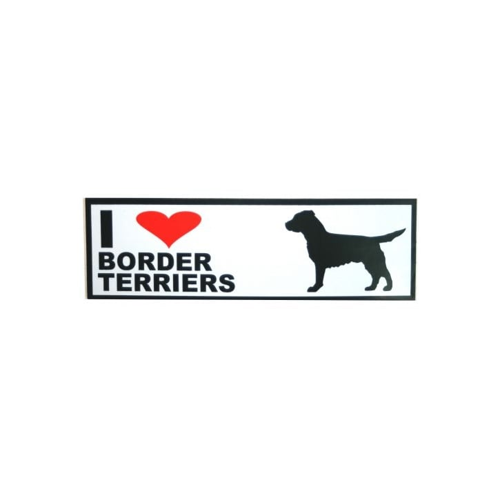 Classic Sign & Design Self Adhesive Quality Vinyl I Love My Border Terriers Dog Sign Sticker