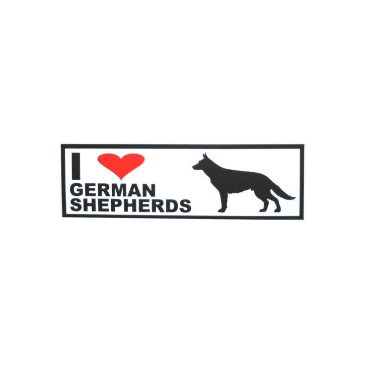 Classic Sign & Design Self Adhesive Quality Vinyl I Love My German Shepherds Dog Sign Sticker