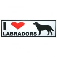 Classic Sign & Design Self Adhesive Quality Vinyl I Love My Labradors Dog Sign Sticker