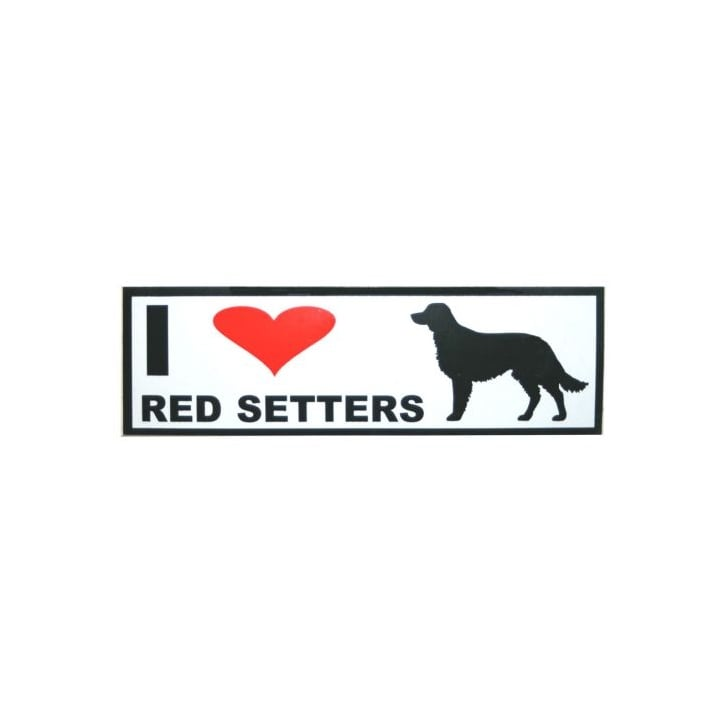 Classic Sign & Design Self Adhesive Quality Vinyl I Love My Red Setters Dog Sign Sticker