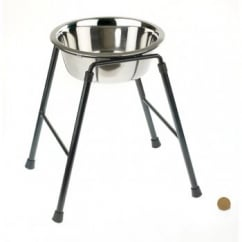 Single Feeder Dog Stand 300mm High Inc 1600ml Dish