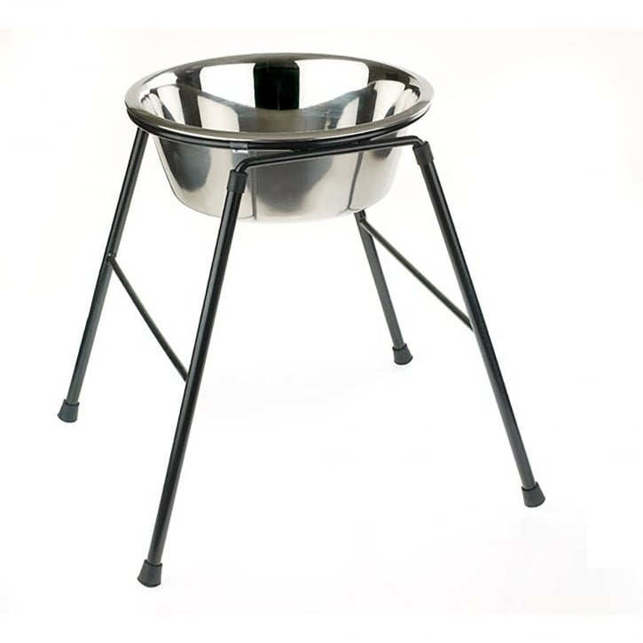 Classic Single Feeder Dog Stand 370mm High Inc 4000ml Dish