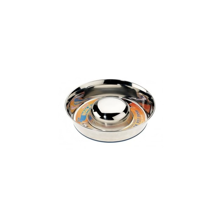 Classic Stainless Steel Non-slip Slow Feeder Bowl - Large 11