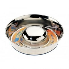 Classic Stainless Steel Non-slip Slow Feeder Bowl - Large 11""