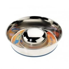 Stainless Steel Non-slip Slow Feeder Bowl - Medium 9.5