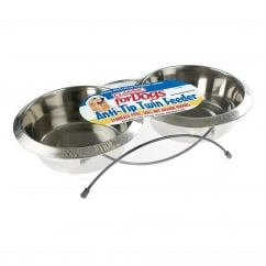 Stainless Steel Twin Feed & Dishes 2x1900ml