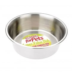 Super Value Stainless Steel Dish 2800ml - 250mm Dia