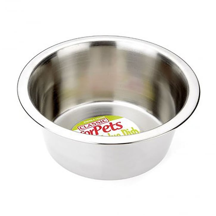 Classic Super Value Stainless Steel Dish 475ml - 135mm Dia