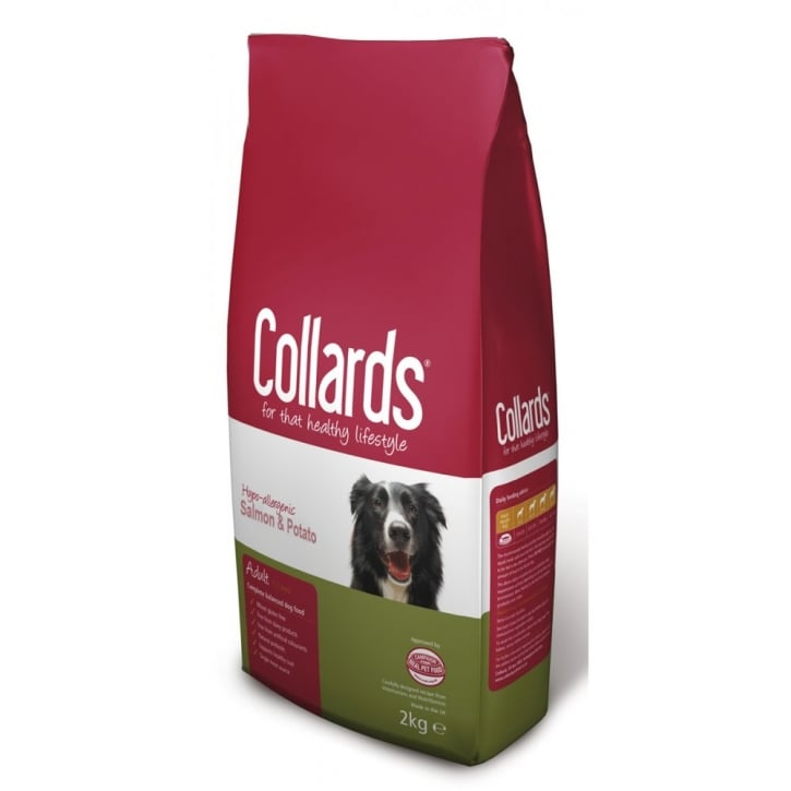 Collards Complete Hypo-allergenic Adult Dog Food Salmon & Potato 2kg