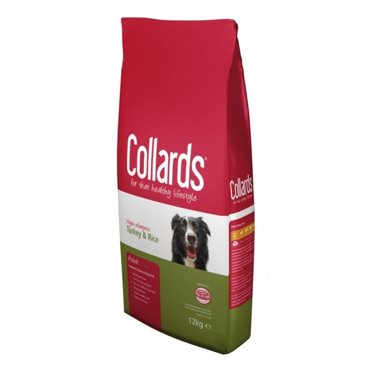 Collards Complete Hypo-allergenic Adult Dog Food Turkey & Rice 12kg