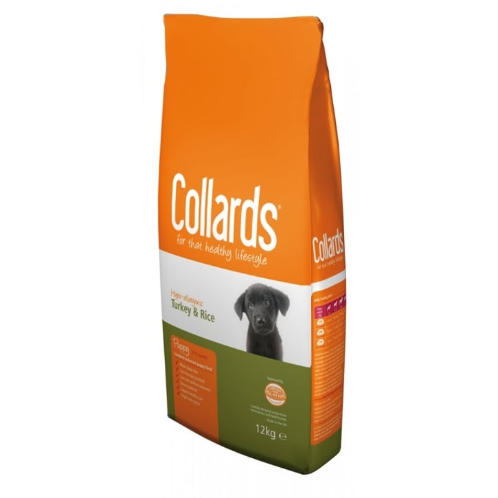 Collards Complete Hypo-allergenic Puppy Dog Food Turkey & Rice 12kg