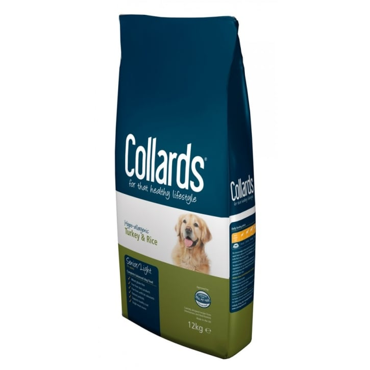 Collards Complete Senior/Light 7+ Years Dog Food Turkey & Rice 12kg