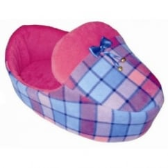 Cosipet Slipper Shaped Foam Fleece Soft Dog Bed Lilic 55cm