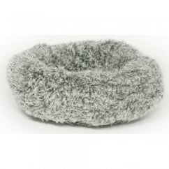 Fluffy Grey Cushion Cat Bed 51cm (20