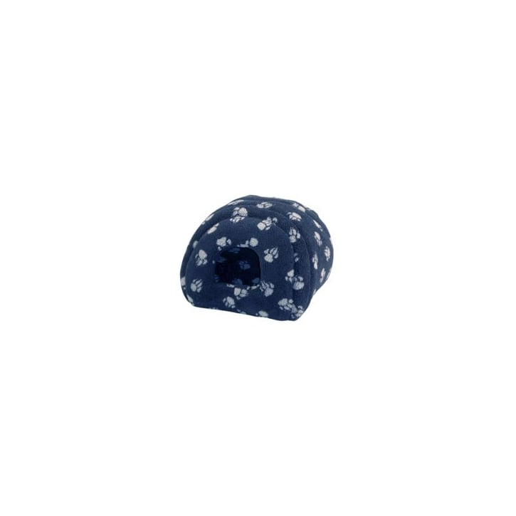 Danish Design Sherpa Fleece Cat & Small Dog Igloo - 41x41cm - Navy