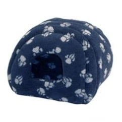 Sherpa Fleece Cat & Small Dog Igloo - 41x41cm - Navy