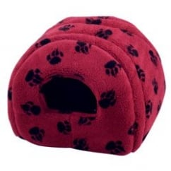 Sherpa Fleece Cat & Small Dog Igloo - 41x41cm - Wine