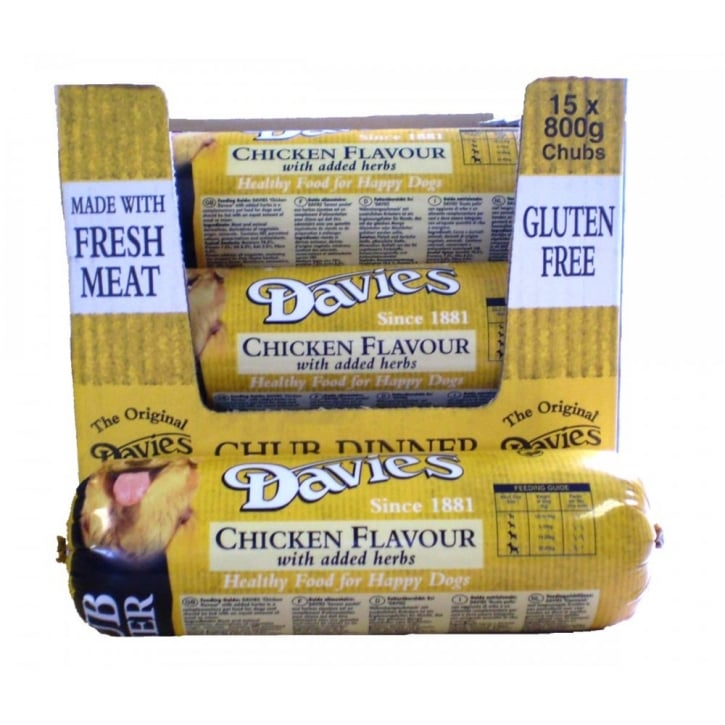 Davies Chicken Chub Dog Food 15x800gm box