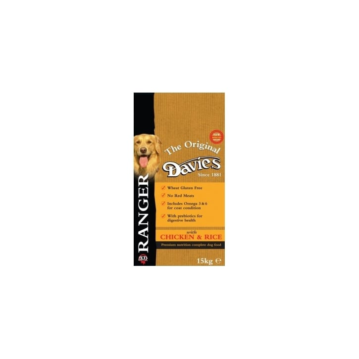 Davies Ranger Complete Adult Dog Food With Chicken & Rice 15kg PM 29.99