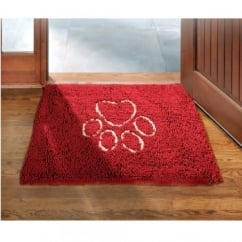 Dirty Dog Doormat Maroon 79 x 51cm