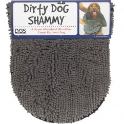 Dirty Dog Shammy Towel Grey